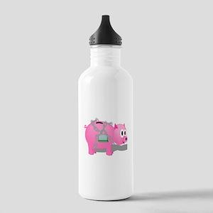 Locked Piggy Bank Water Bottle