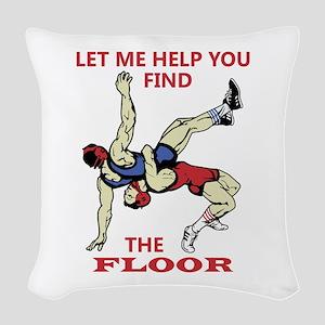 Let Me Help You Woven Throw Pillow
