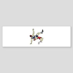 WRESTLERS Bumper Sticker