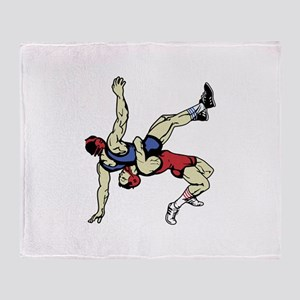 WRESTLERS Throw Blanket