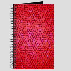 Red/pink color stained glass pattern Journal