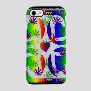Rainbow Of Weed iPhone 7 Tough Case