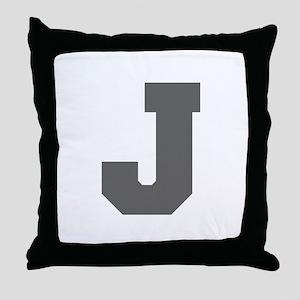 J-Fre gray Throw Pillow