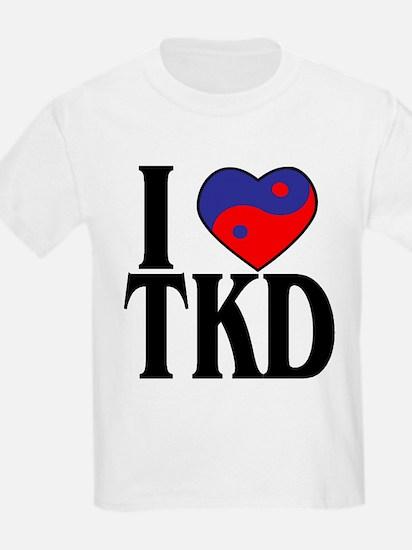 I heart TKD 4x4 T-Shirt