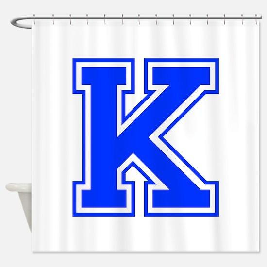 K-Var blue Shower Curtain
