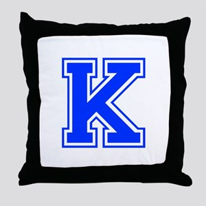 K-Var blue Throw Pillow