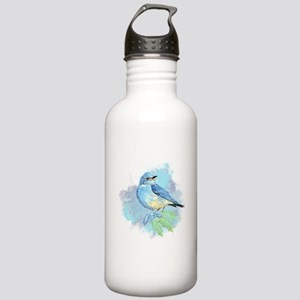 Watercolor Bluebird Pretty Blue Garden Bird Art Wa