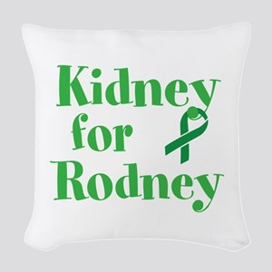 Personalize,Kidney for ___. Woven Throw Pillow