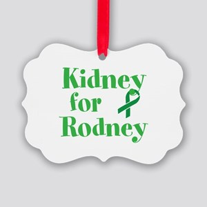 Personalize,Kidney for ___. Picture Ornament