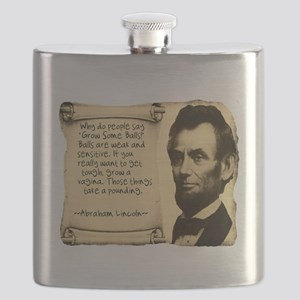 Fake Lincoln Quote Flask