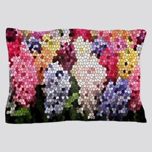 Hyacinths color stained glass pattern  Pillow Case