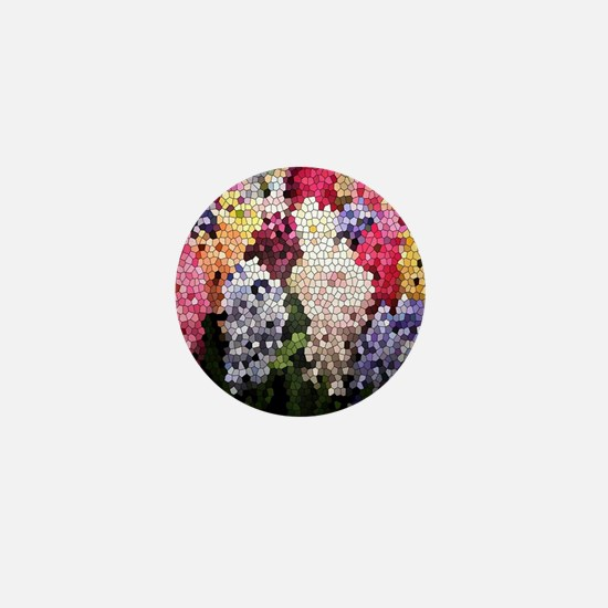 Hyacinths color stained glass pattern  Mini Button