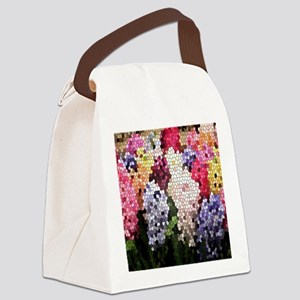 Hyacinths color stained glass pat Canvas Lunch Bag