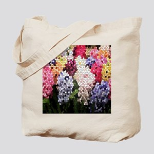 Hyacinths color stained glass pattern sha Tote Bag