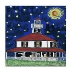 Starry Night Lighthouse Tile Coaster