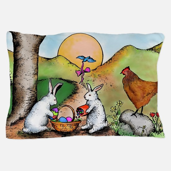 Easter Basket Pillow Case
