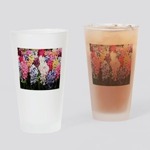 Hyacinths color stained glass patte Drinking Glass