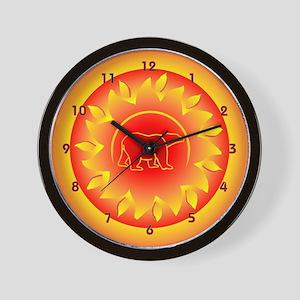 Global warming time Wall Clock