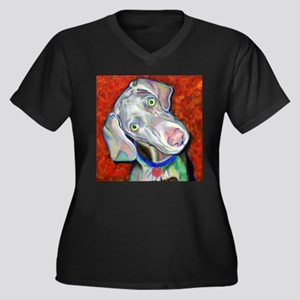 Say What!?! Women's Plus Size V-Neck Dark T-Shirt