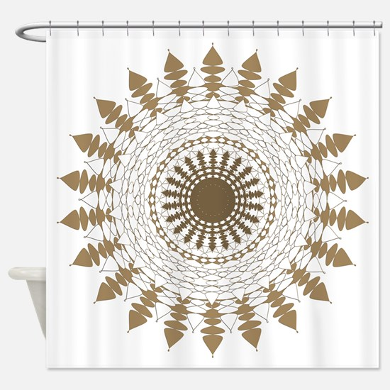 Shades of Sepia Whites Browns Manda Shower Curtain
