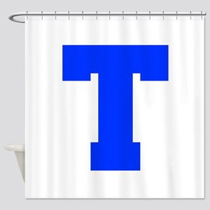 T-Fre blue Shower Curtain