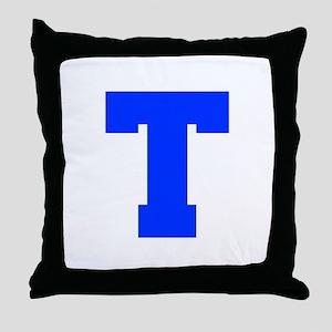 T-Fre blue Throw Pillow