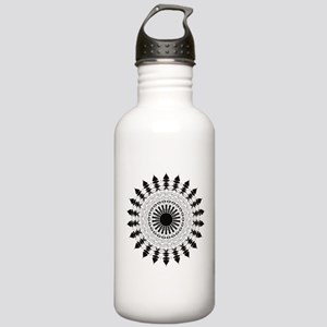 Black and White Mandal Stainless Water Bottle 1.0L