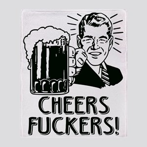 Irish - Cheers Fuckers Throw Blanket