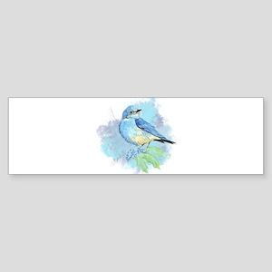 Watercolor Bluebird Pretty Blue Garden Bird Art Bu