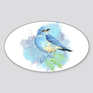 Watercolor Bluebird Pretty Blue Garden Bird Art St
