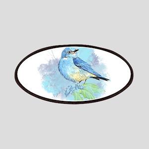 Watercolor Bluebird Pretty Blue Garden Bird Art Pa