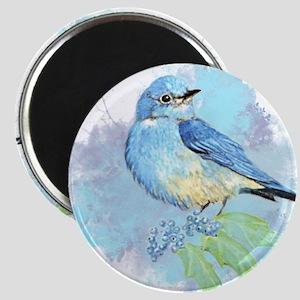 Watercolor Bluebird Pretty Blue Garden Bird Art Ma
