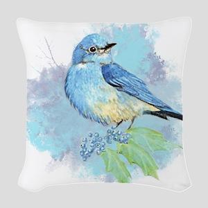 Watercolor Bluebird Pretty Blue Garden Bird Art Wo