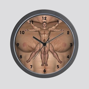 Vitruvian Man - Wall Clock