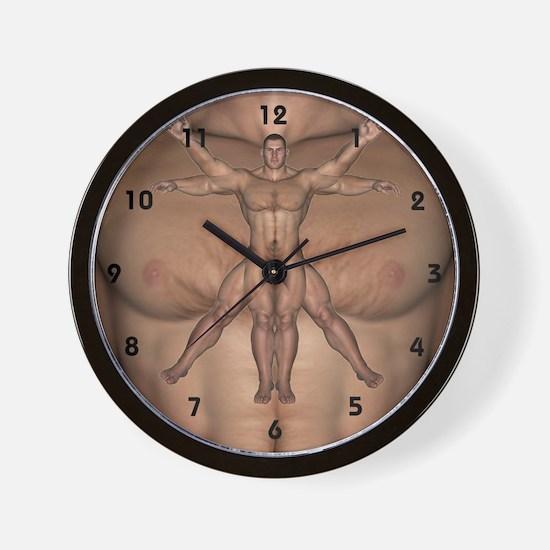 Vitruvian Man - Wall Clock