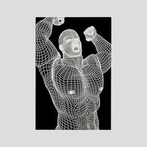 Digital Man Primal Shout - Rectangle Magnet