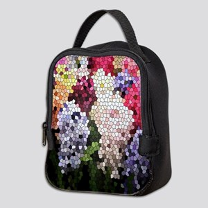 Hyacinths color stained glass p Neoprene Lunch Bag