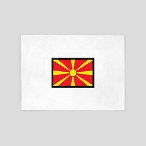 MACEDONIA FLAG 5'x7'Area Rug