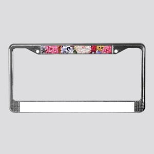 Hyacinths color stained glass License Plate Frame