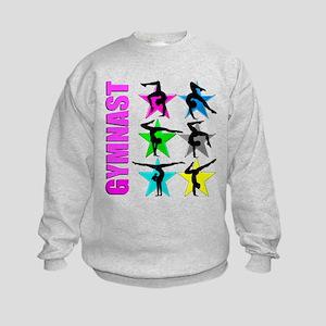 GYMNAST CHICK Kids Sweatshirt