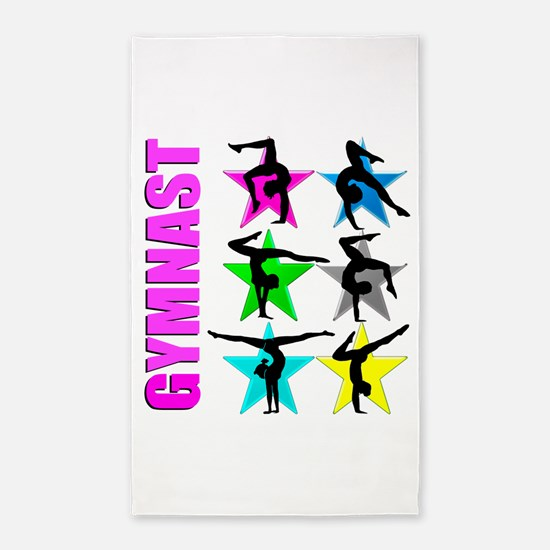 GYMNAST CHICK Area Rug