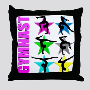 GYMNAST CHICK Throw Pillow