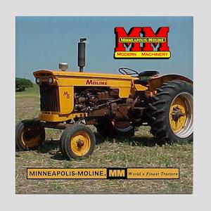Minneapolis Moline Tractor Tile Coaster