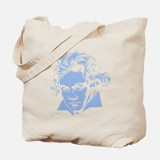 Beethoven In Blue Tote Bag