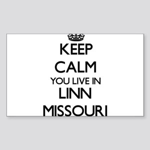 Keep calm you live in Linn Missouri Sticker