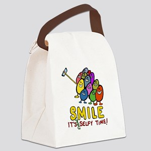 smile! It's Selfie Time! Canvas Lunch Bag
