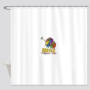 smile! It's Selfie Time! Shower Curtain