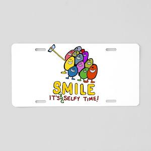 smile! It's Selfie Time! Aluminum License Plate