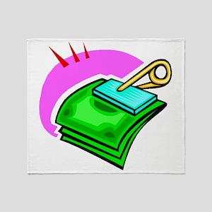 Money Clip Throw Blanket