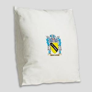 Shakespear Coat of Arms - Fami Burlap Throw Pillow